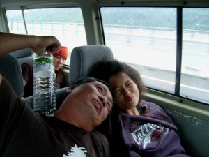 Gordon and Inchi on the way to Pindong