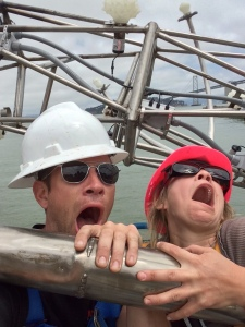 Prince Paul of BRAF and Denise, being entirely too goofy up in the boom lift