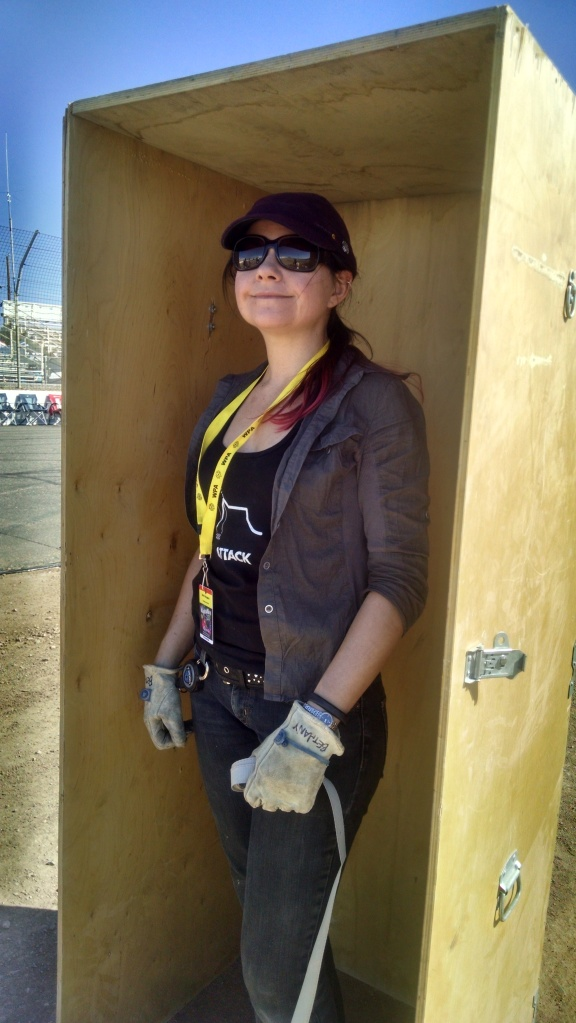 Bethany in the pressure vessel box